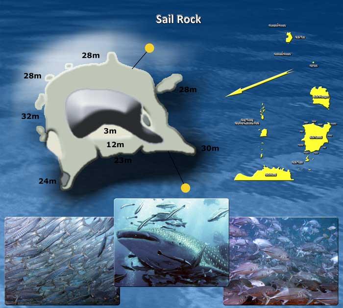 mapa sail rock