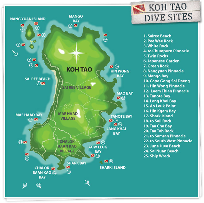 Koh Tao Dive Sites 1