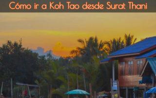 Cómo ir a Koh Tao desde Surat Thani